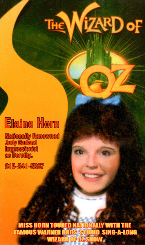 Elaine Horn Dorothy of Oz